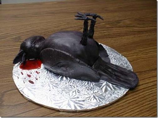 tartas raras originales pajaro muerto