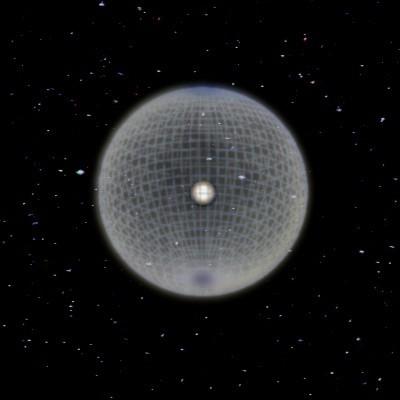 Esfera de Dyson sol burbuja