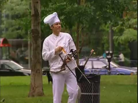 broma video humor pajaro cocinero cazando