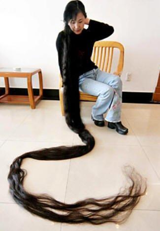 cabello pelo record Xie-Qiuping