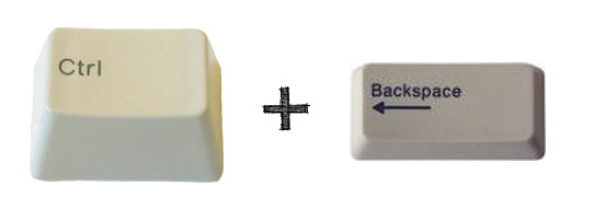 ctrl retroceso backspace teclas