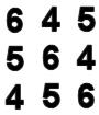 cuadro latino numeros