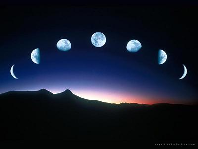 fases luna moon phases