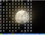 fondo escritorio ordenador iconos desordenados