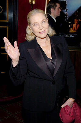 "lauren bacall ""Beyond The Sea"" New York Premiere Red Carpet"
