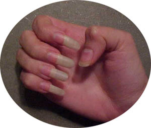 nails unas dedos