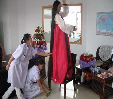 peluqueras pelo record Xie-Qiuping