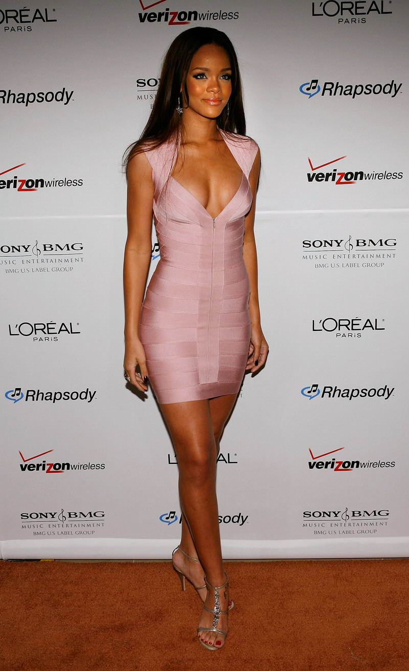 Clive Davis Pre-Grammy Party Arrivals rihanna 2007