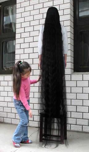 xie_qiuping_pelo_cabello mas largo mundo