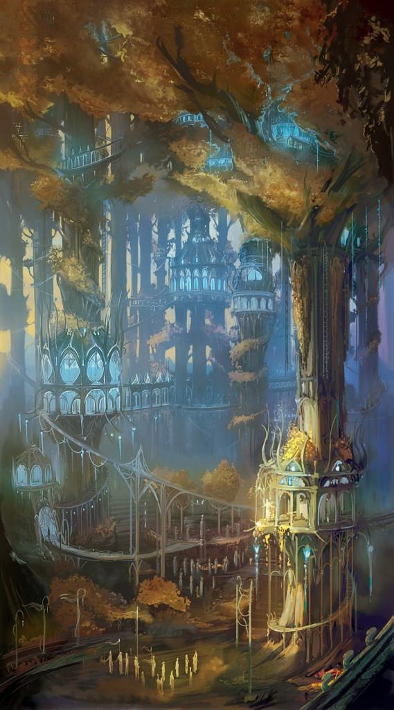 Lothlorien imagen ilustracion