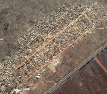 Porta Farm Zimbabwe satelite antes