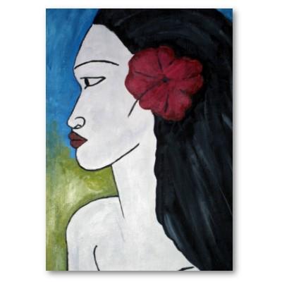 flores-polinesia-pelo-chica-tahiti-cuadro