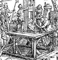 guillotina guillotine guillotinar decapitar