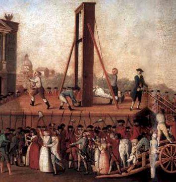 guillotine guillotina ejecucion revolucion