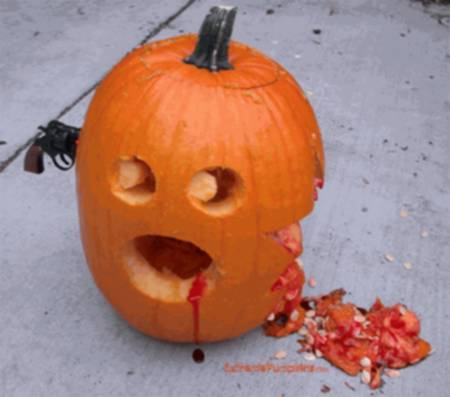 halloween humor calabaza disparo