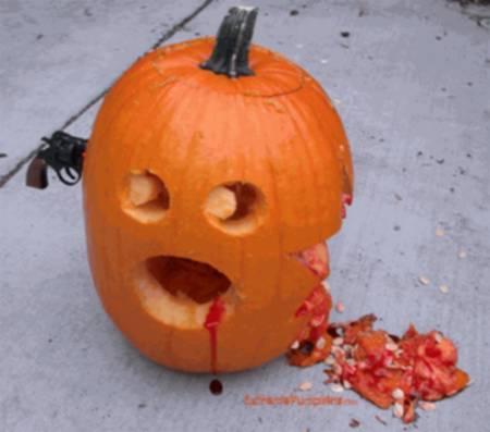 halloween humor calabaza disparo