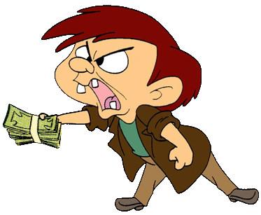 hombre dinero enfadado