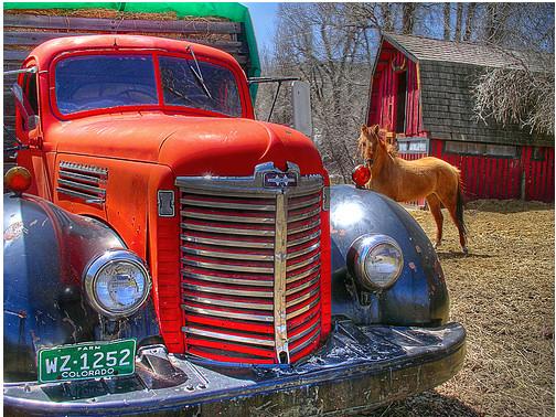 imagen-fotos-hdr-caballo-camion