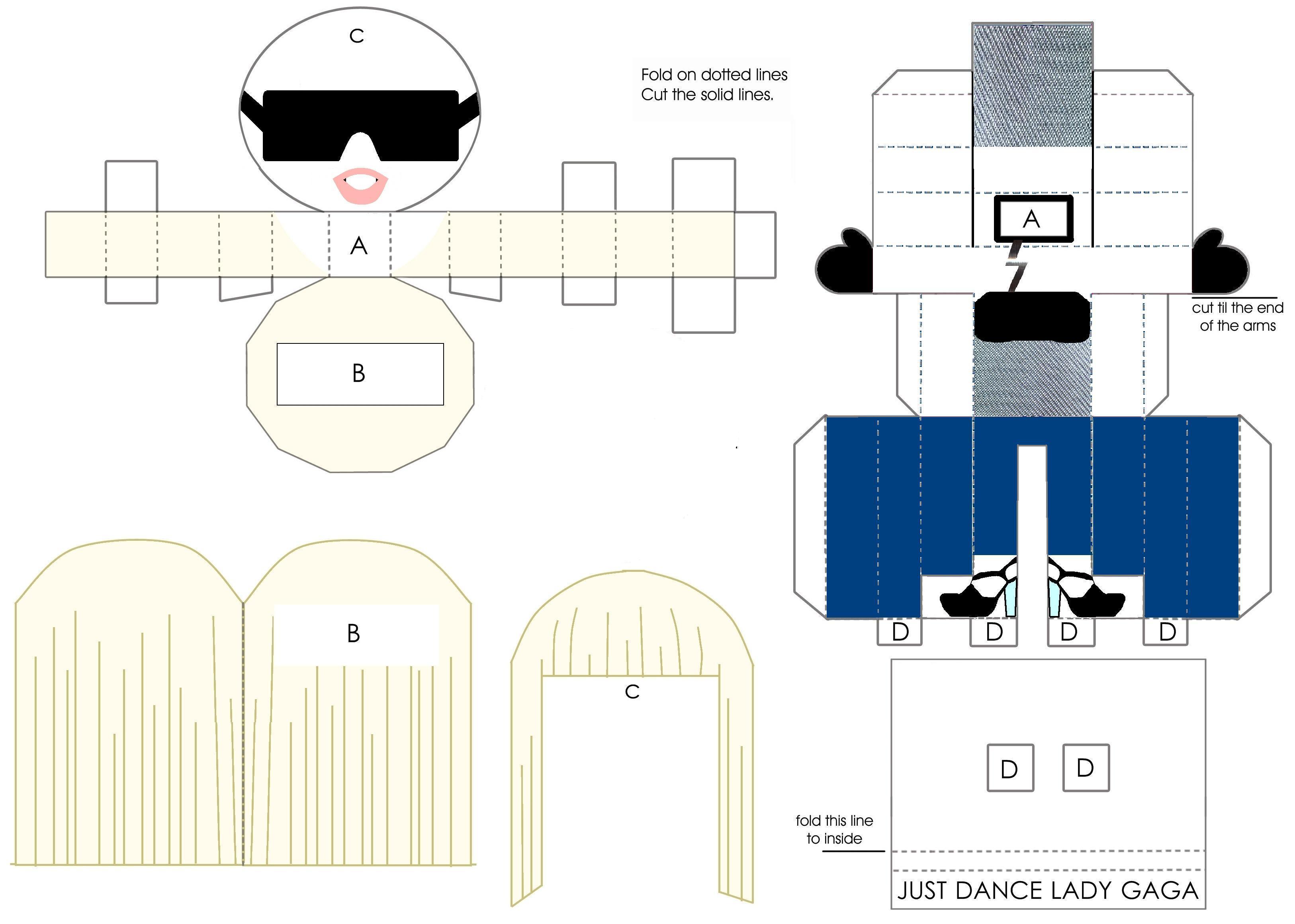 Muñecas de papel de Lady Gaga | Blogodisea