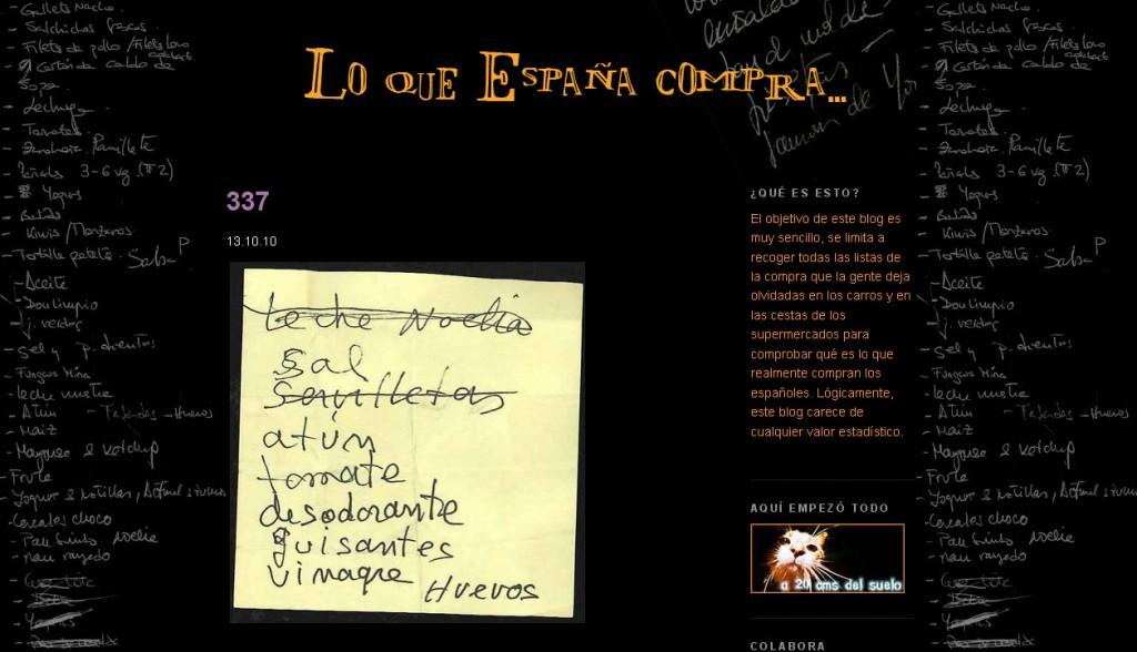 lo que espana compra blog