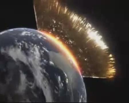meteorito video colision tierra