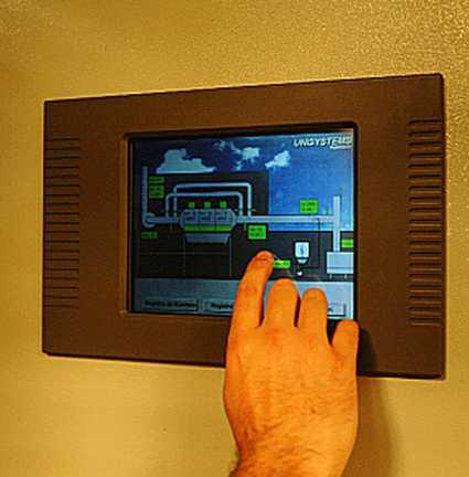 pantalla tactil dedo