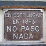 placa en este lugar no paso nada 1893