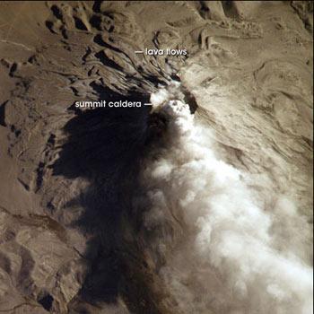 vista satelite volcan Ubinas peru