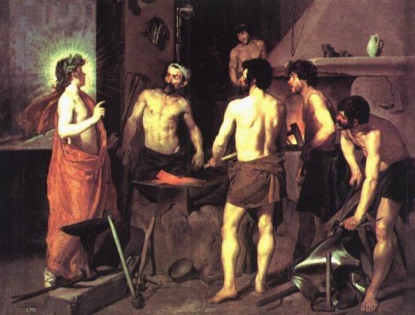 La fragua de Vulcano Diego Velazquez 1630 Museo del Prado Madrid