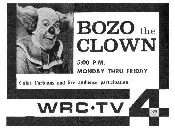 Willard Scott bozo the clown show