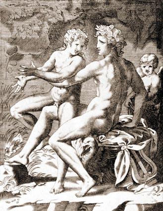 apolo-jacinto-jacopo-caraglio-grabado-italiano-siglo-xiv