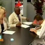 Broma en una entrevista de trabajo