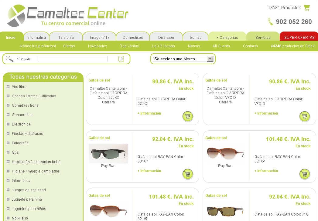 camaltec center tienda