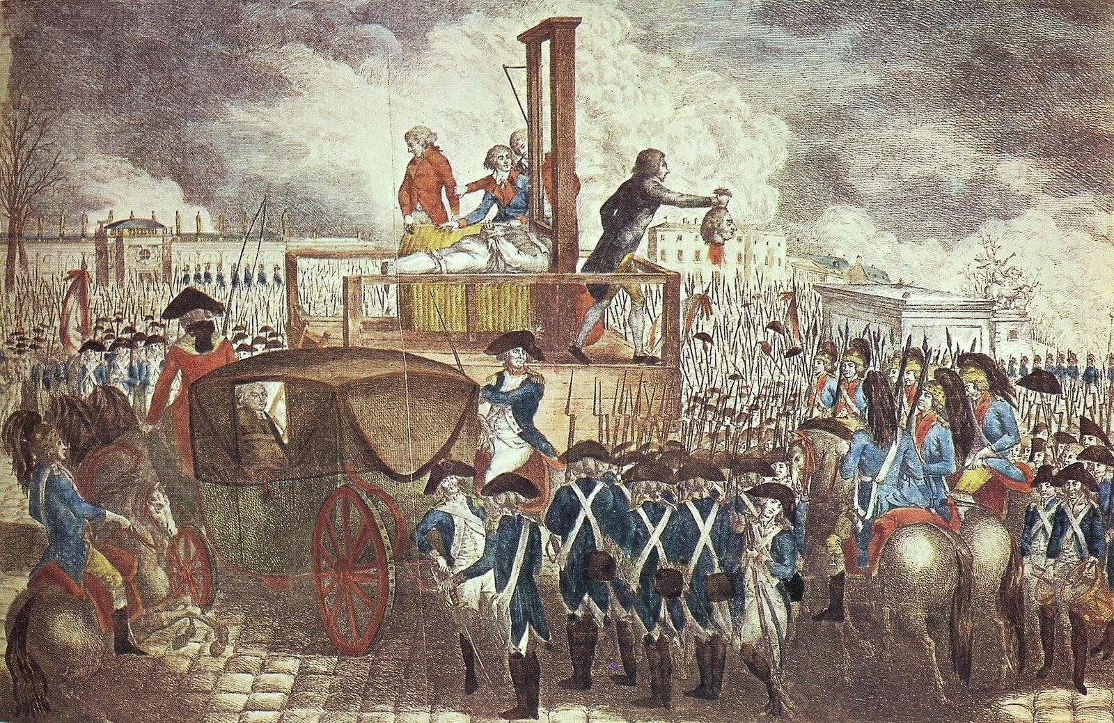 guillotina Revolucion Illuminada Francia