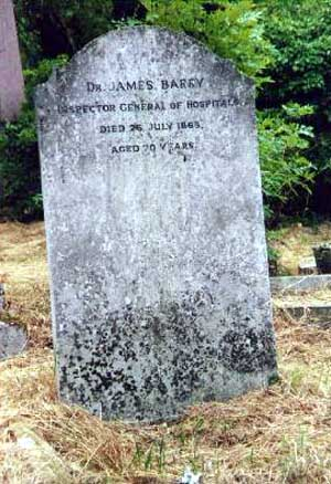 james barry cirujano tumba