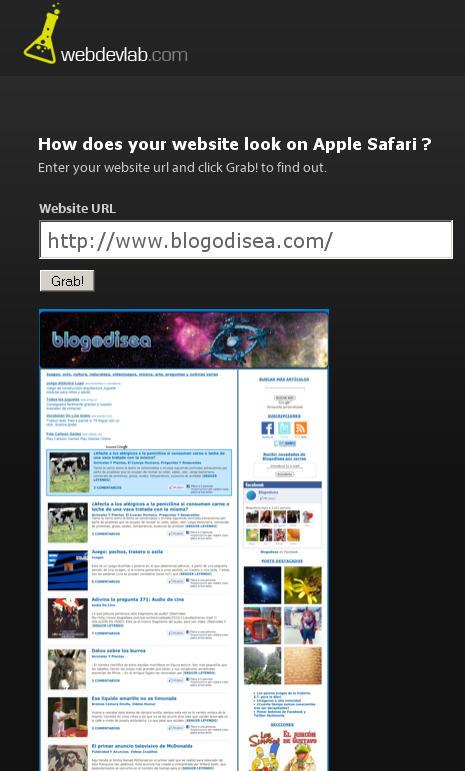 webdevlab capturar paginas web online