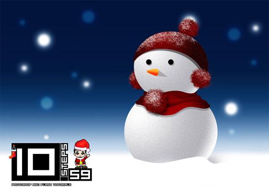 Crear tu propio muñeco de nieve en Photoshop