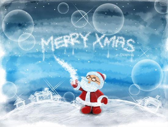 Fondo escritorio Navidad Papa Noel