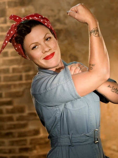Pink-Raise-Your-Glass_Rosie the Riveter