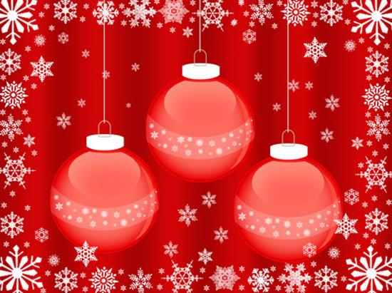 Wallpaper bolas Navidad diseno fondo escritorio