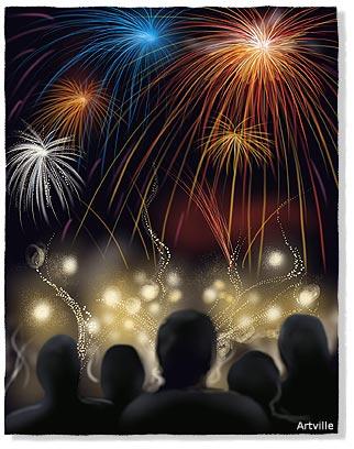 ano nuevo fuegos artificiales