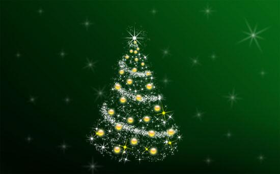 arbol Navidad luces brillos tutorial photoshop