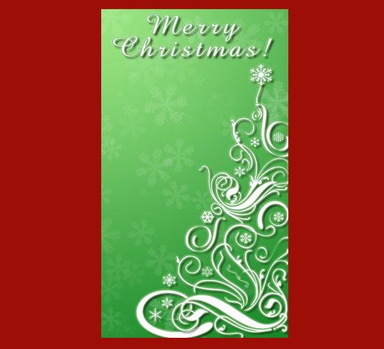 arbol navidad sinuoso postal felicitacion