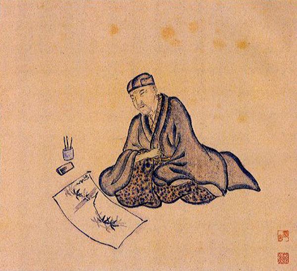 basho-retrato-sanpu-haiku