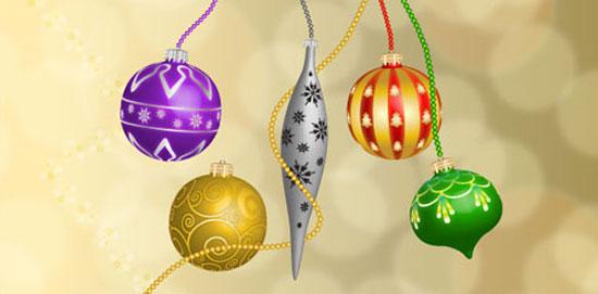 bolas navidenas navidad 3d illustrator