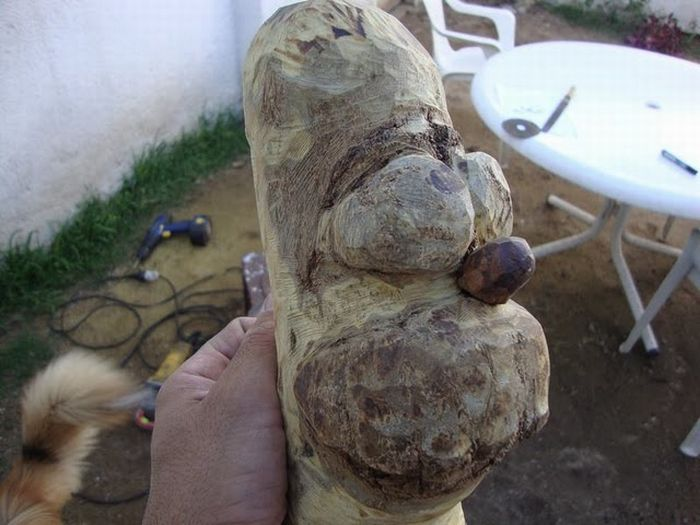homer simpson madera figura