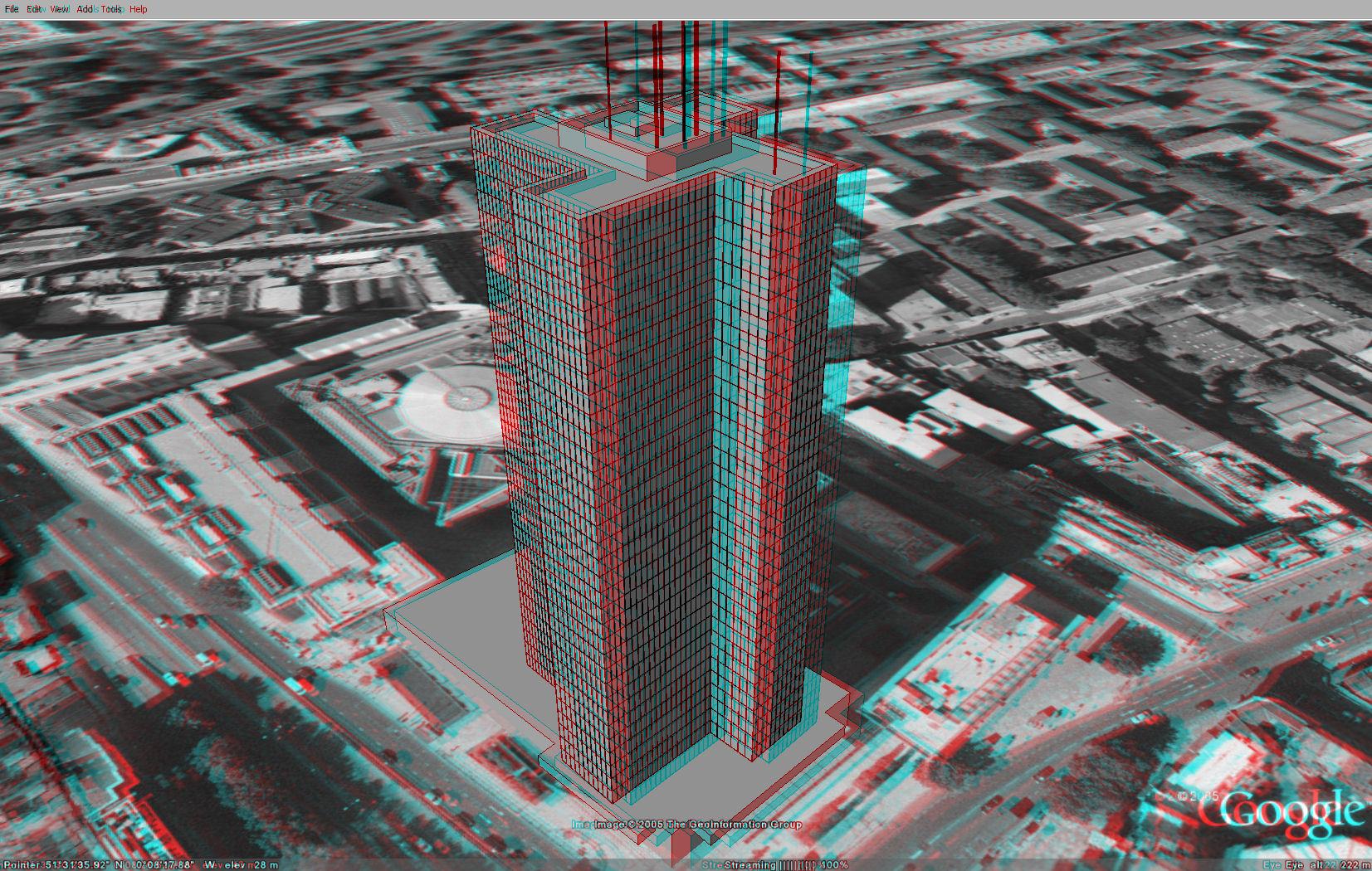 imagen 3D edificio google building