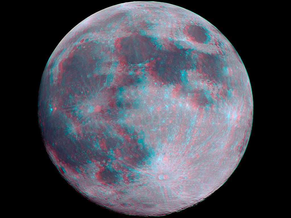imagen 3D luna moon