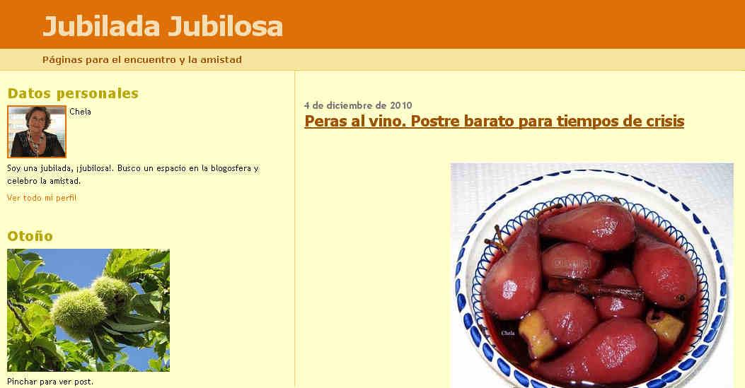 jubilada jubilosa blog chela