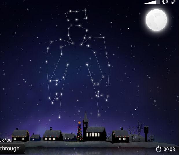 juego estrellas navidad constelaciones